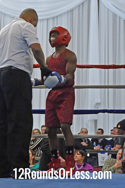 Bout #2:  Ronnell Johnson, Columbus, OH  vs  (J.O.) Roderick Wilson, Cleveland, OH  115 Lbs.