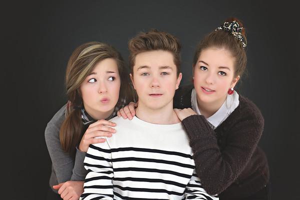 Valentine, Emile, Joséphine, Marie-Amélie