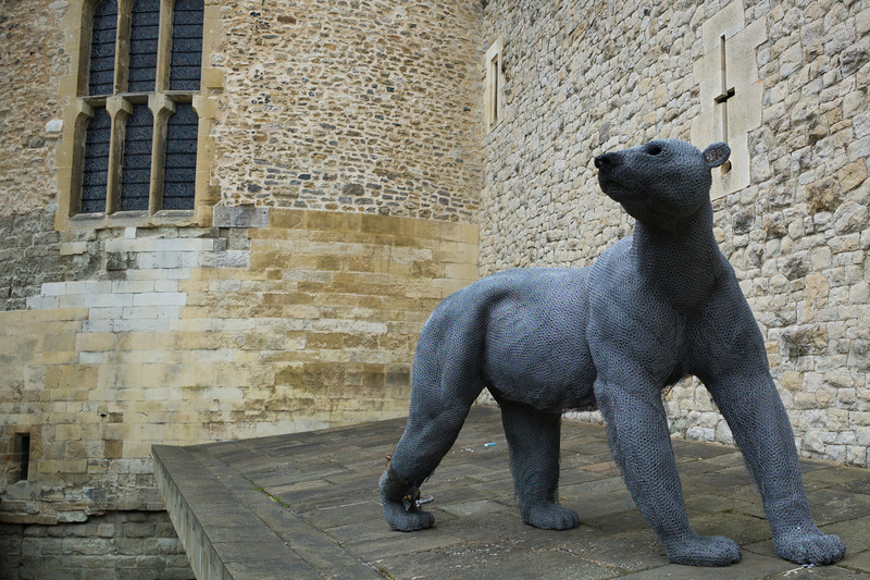 Tower of London bear made of chicken wire