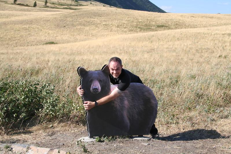 20110829 - 152 - WLNP - Brian Wrestling A Bear Along Red Rock Parkway.JPG