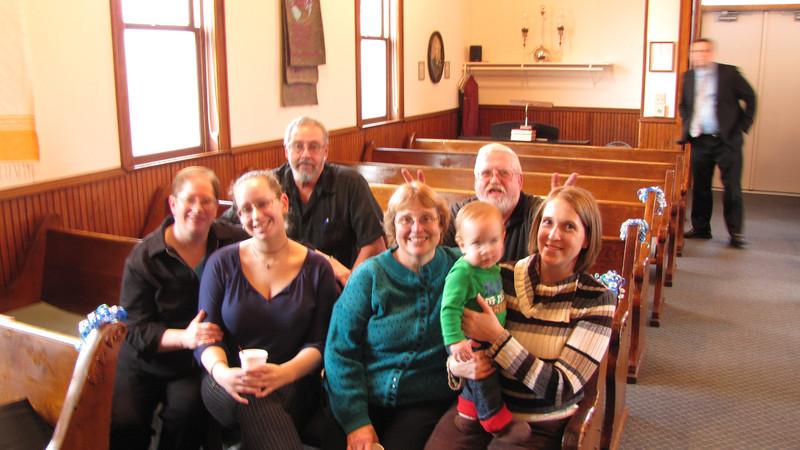 Tammy, Ahri and Darrel Clark, Rose and Jeff Morse with daugher Sarah and Elijah Kline