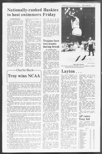 Daily Trojan, Vol. 62, No. 63, January 13, 1971