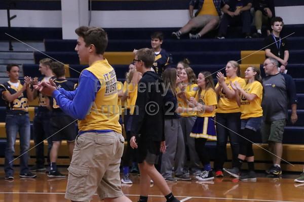 homecoming pep rally 'volleyball . 9.29.17