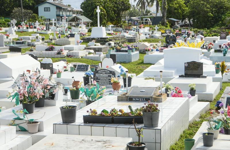 A graveyard by the beach...
