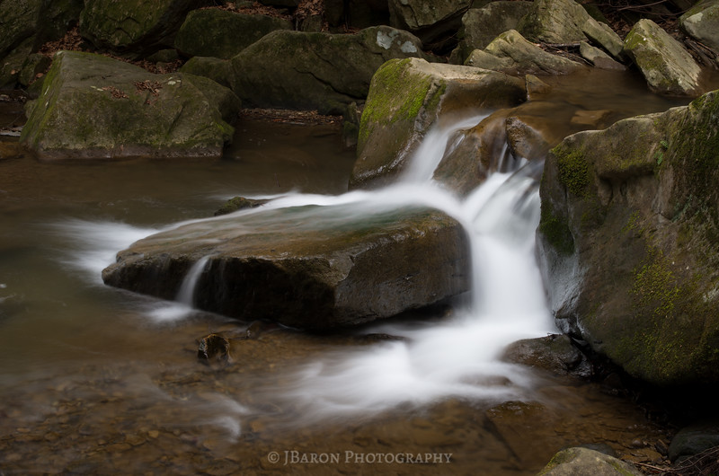 Flowing Water and Mossy Rocks at McConnells Mill III