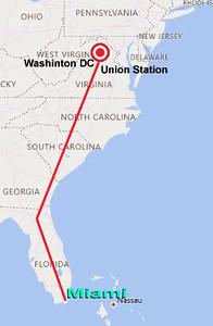 DC to Miami to Mumbai