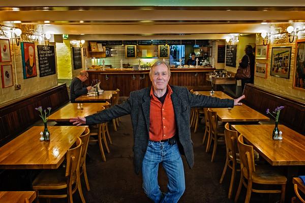 Paddy Byrne in the original Everyman Bistro's last days