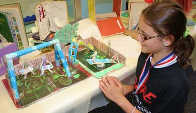 Repurposed Books Projects, West Penn Elementary School, Tamaqua (5-25-2012)