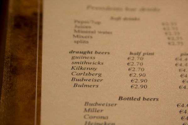 They seriously spelled Guinness wrong on the menu at the hotel. And forgot to capitalize it.