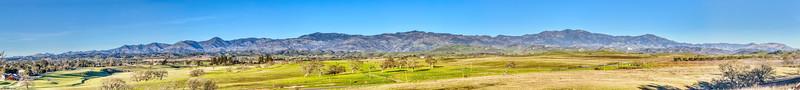 The Santa Ynez Mountains
