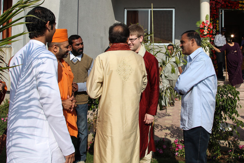 Blessings from the Sadhus at the Vidhi ceremony.