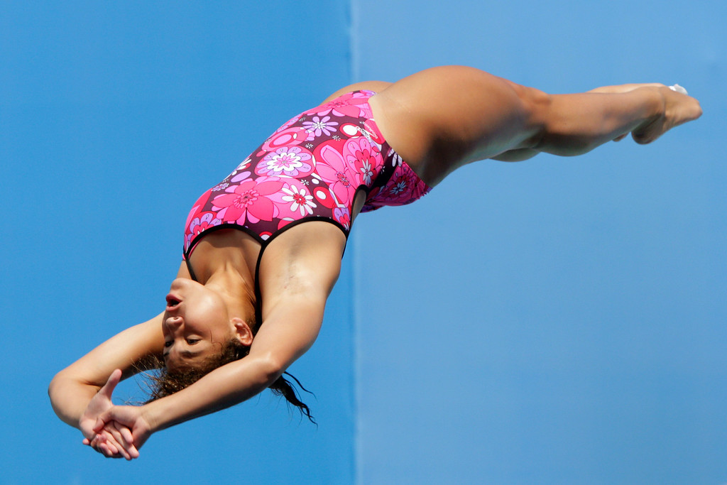 . Sophie Somloi of Austria competes in the Women\'s 1m Springboard Diving preliminary round on day two of the 15th FINA World Championships at Piscina Municipal de Montjuic on July 21, 2013 in Barcelona, Spain.  (Photo by Adam Pretty/Getty Images)
