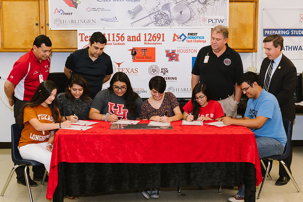 Robotics Team College Signing