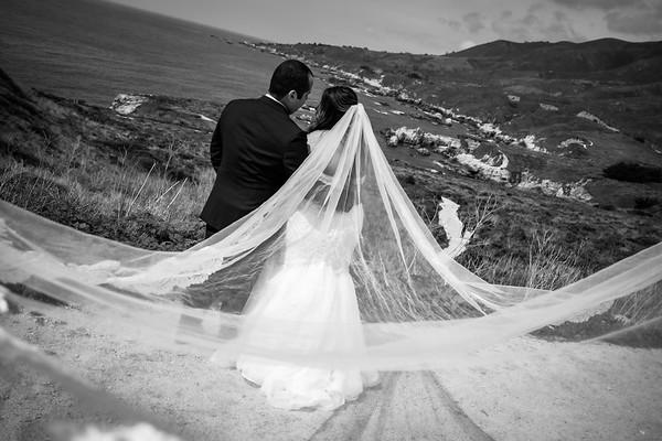 Jocelyn + Hugo Elopement @ Wedding Rock and Garrapata Park, Carmel