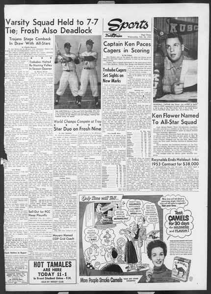 Daily Trojan, Vol. 44, No. 82, February 25, 1953