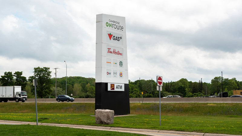 ONroute highway sign