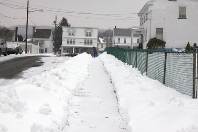 Sweeping Snow, Patterson St, Tamaqua (1-28-2011)