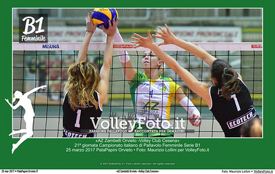 AZ Zambelli Orvieto -Volley Club Cesena» 21ª #B1Fvolley