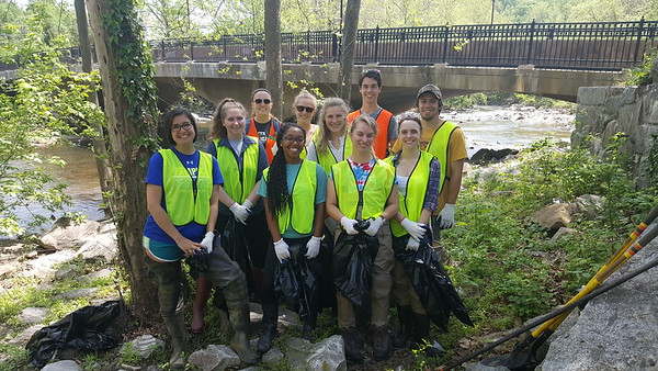 5.1.2017 Patapsco River Cleanup with Chesapeake Conservation Corpsmembers