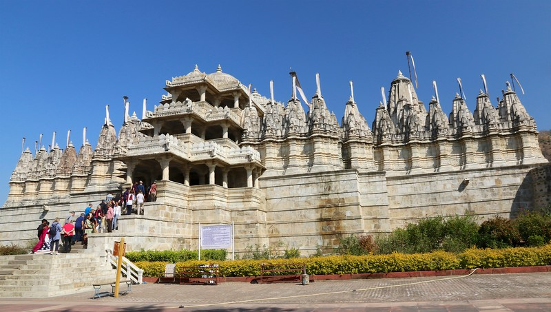 The Ranakpur Jain Temple was built in the 15th century in honor of Adinath, the founder of the Jain religion.