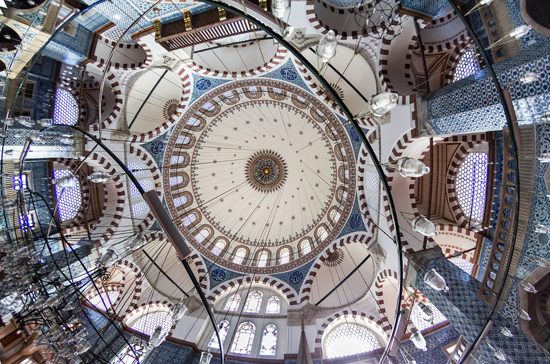Istanbul, Rüstem Pascha: Totale des Innenraums zur Kuppel