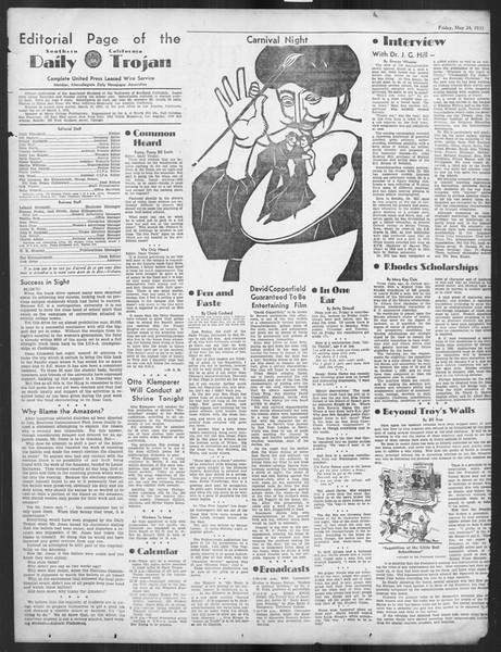 Daily Trojan, Vol. 26, No. 144, May 24, 1935