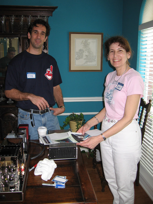 Ryan and Sherri. Ryan recently bought a Silver Circle Audio power conditioner (the 3KVA model) and a pair of Mcintosh 400 watt monoblocks. Sherri has gone an entire week without buying a single audio component (she got the Harley instead).