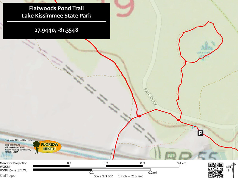 Flatwoods Pond Trail Map