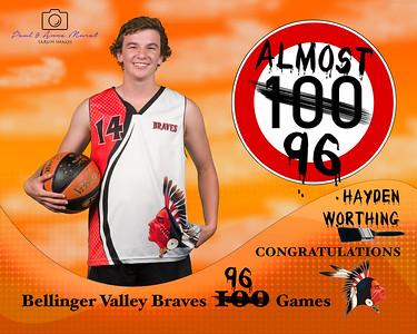 BRAVES 100 GAMES AWARDS