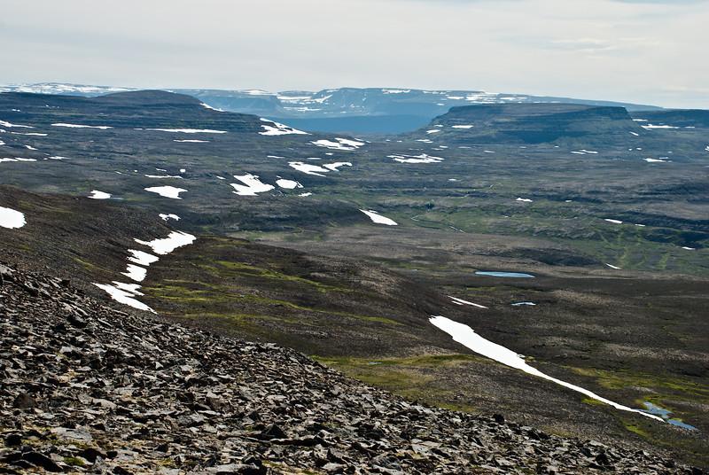 Kagrafell, Hesteyrarskarð og Búrfell.