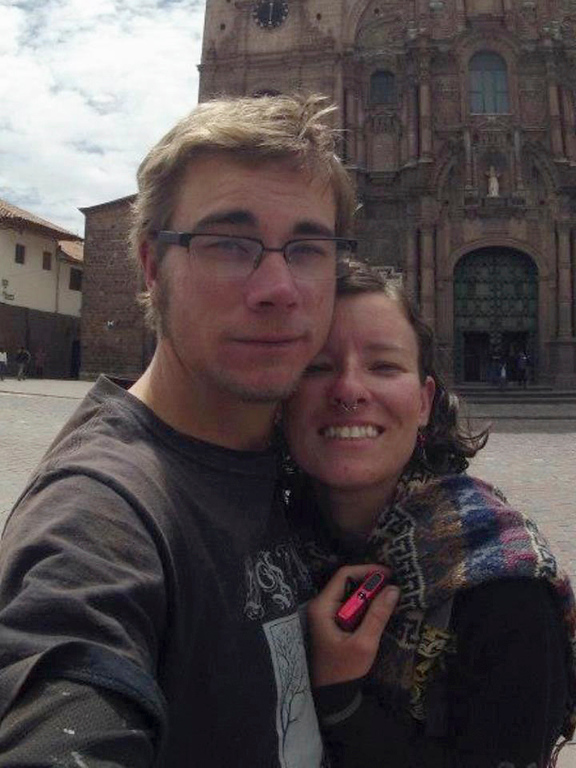 . An undated self-portrait of Garrett Hand and Jamie Neal, last seen in Cusco, Peru, is now posted on the Facebook page set up to help locate the missing bicyclists. They were last seen in that country on Jan. 25. (Missing in Peru Garrett Hand and Jamie Neal)