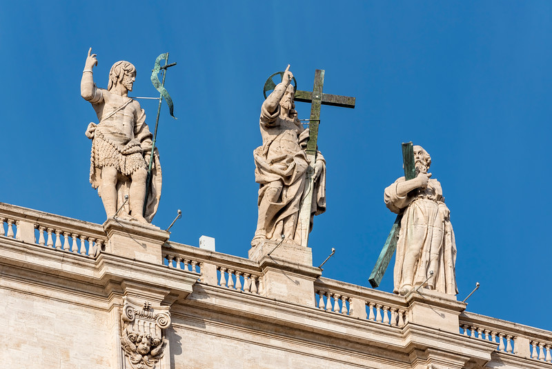 Statues of Saints, San Pietro, Rome