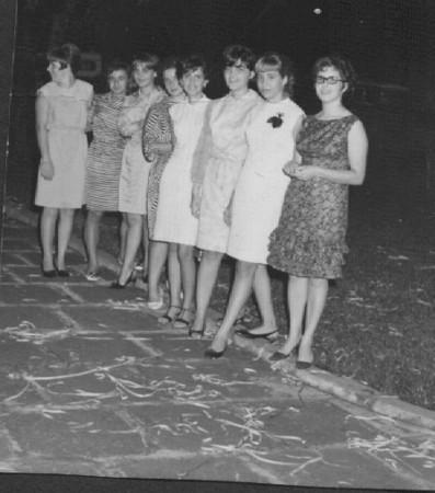 Carnaval(?) - Fevereiro 1967 Luísa Santos, Lita Marvanejo , Elza Augusto Sousa, Mica Marvanejo, Nanda Ferreira da Silva, Teresa Fontinhas,Misita Melo Abreu, Lídia