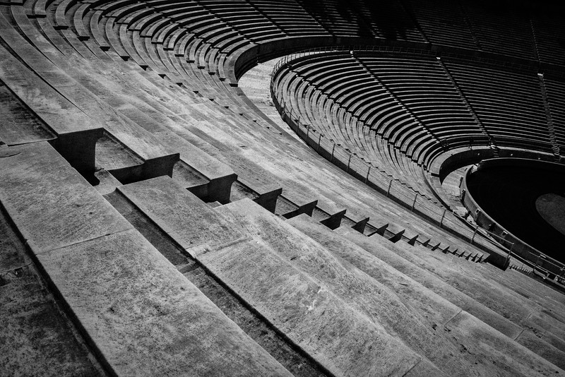 The Stands of the Ancient Panathenaic Stadium in Athens, Greece.