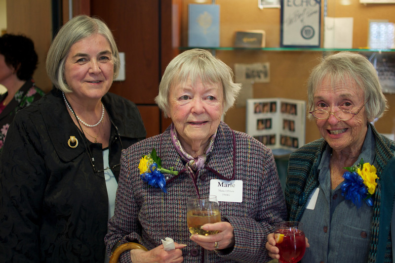 Marie O'Hara, center, Class of 1944
