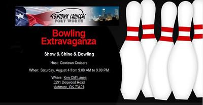 Cowtown Cruisers Show & Shine & Bowling