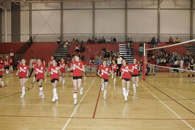 Middle School Girls Volleyball - 2/27/2006 vs. Newaygo