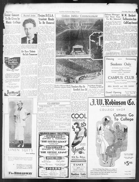 Daily Trojan, Vol. 24, No. 151, May 25, 1933