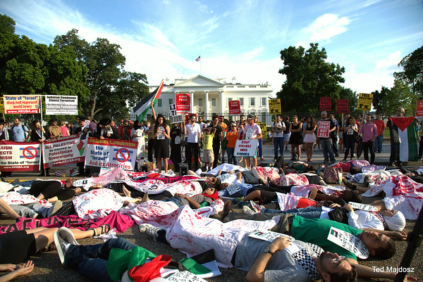 DIE-IN at White House for Gaza  7/16/14