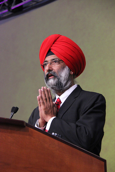 Dr. Tarunjit Singh Butalia, former secretary general of the World Sikh Council of the American Region, speaks to the 2013 Churchwide Assembly.
