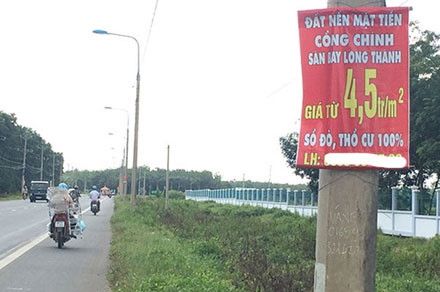 Real estate booms around Long Thanh Airport project