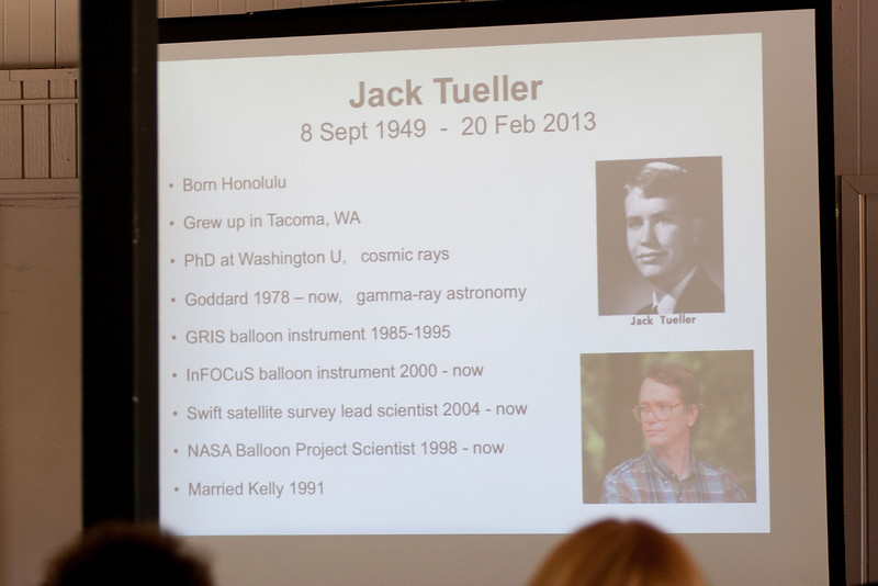 biographical slide -- Jack Tueller Memorial Symposium, NASA/Goddard Space Flight Center, Greenbelt, MD, April 26, 2013