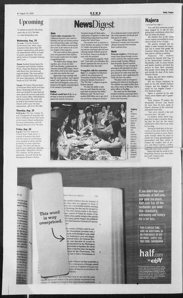 Daily Trojan, Vol. 156, No. 3, August 24, 2005