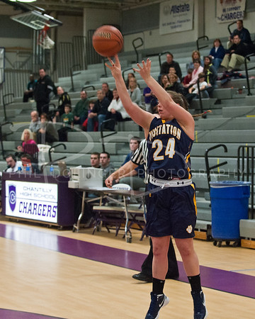 Girls Basketball - Georgetown Visitation Prep Tigers v Chantilly Chargers, Thursday, December 29, 2011