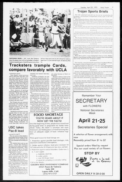Daily Trojan, Vol. 67, No. 112, April 22, 1975