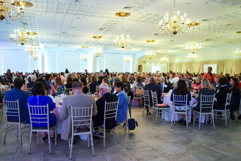 05/09/19  Wesley Bunnell   Staff  A packed house at the Aqua Turf in Southington on Thursday for the 2019 New Britain YWCA's Women in Leadership Luncheon.