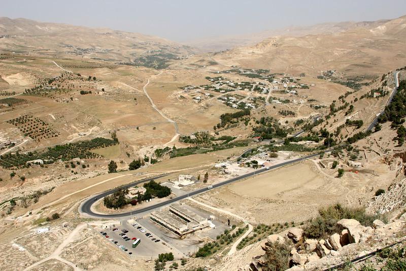 Karak - A view of the countryside surrounding Karak castle in central Jordan.