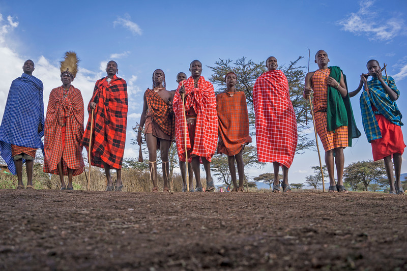 Visiting a village in Kenya, we were able to see life as it has been carried out for hundreds, or thousands, of years. These Masai Warriors jump, and dance, to win the title, and the girl. This particular dance is performed by the men of the village, who leap into the air to show their strength and stamina as tribal warriors.