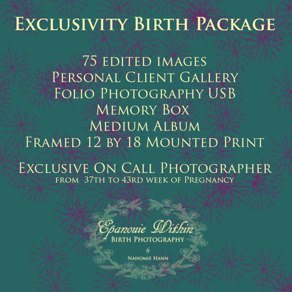 Exclusivity Birth Package