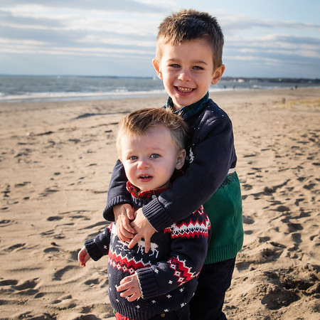 Winter Beach Day at Hammonasset